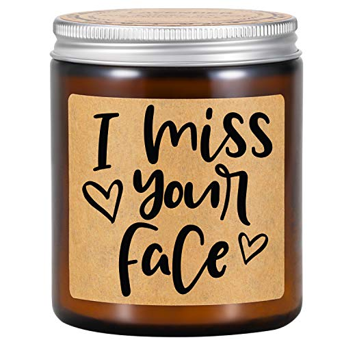 Fairy's Gift Lavender Scented Candles - I Miss You Gifts, I Miss Your Face Candle - Miss You Gifts for Friends, Mom - Mothers Day, Long Distance, I Miss You Gifts for Him, Her, Boyfriend, Girlfriend