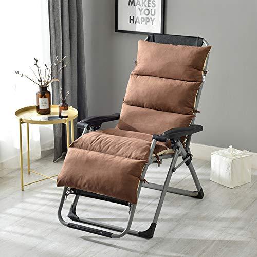 HAOTENG Cuscino Sedile Sedia,Sfoderabile Spesso Conpertevole Sun Lounger Cuscino,Mobili Rilassarsi Morbido Cuscino per Sedia,per Sedia Reclinabile Lettino Marrone 125x50x12cm(49x20x5inch)