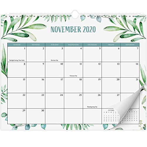 Beautiful Greenery Wall Calendar - The Perfect Monthly Calendar for Easy Planning, Incl. Year 2021