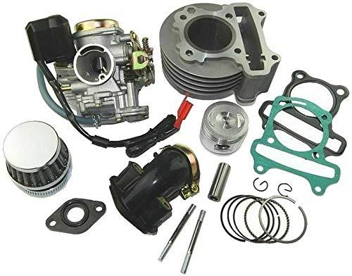 UNTIMERO 80ccm Sport Zylinder KIT Set VERGASER Satz für China Roller 50 139QMB Motor Zylinderkit Zylinderkit Zylinderkit