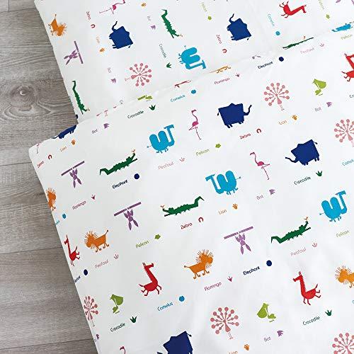 お昼寝洗える布団5点セット《Zoo》【日本製】(赤ちゃん用固綿敷ふとん,ブラウンバッグ)