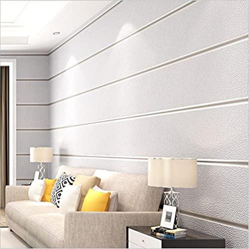 Tapete Breite Streifen-Hellgrau Moderne Vliestapete Poster Wanddekor Für Hotel Büro Wohnzimmer Küche