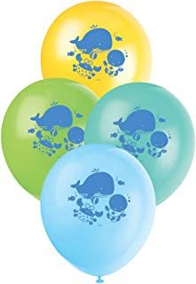 """Unique Party Under The Sea Pals Latex Balloons, Assorted Colours, 30cm/12"""", Pack of 8"""