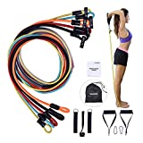 Workout Bands Resistance Set Exercise Bands with Door Anchor Easy to use Legs Ankle Straps for Resistance Training Portable Home Gym Band