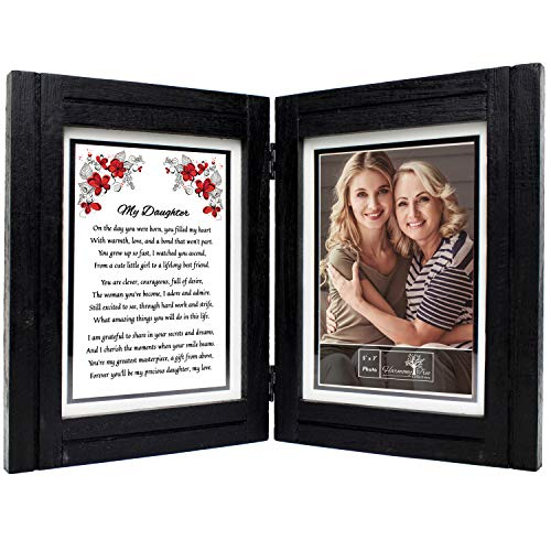 Daughter Gifts from Mom or Dad - 5x7 Picture Frame and