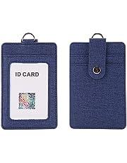 社員証 ケース 縦型 [ IDケース/カードホルダー/定期入れ/名札 等] 黄麻布のテクスチャ 1枚ネックストラップ&1枚 収納