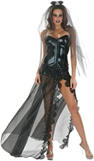 Inc Sexy Black Bride Gown Costume With Veil
