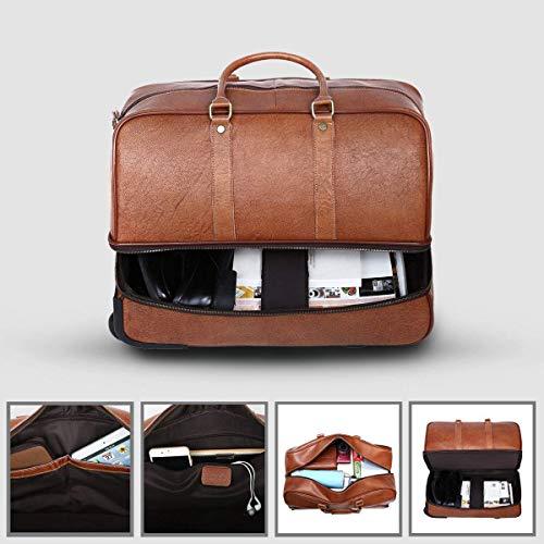 Leathario Reisetasche aus Rindsleder – Trolley - 4