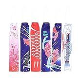 YARNOW 6 Piezas de Calcetín de Viento para Peces Carpa Japonesa Colorido Colgante Banderas de Viento Decoración para Colgar Al Aire Libre Decoración de Festival