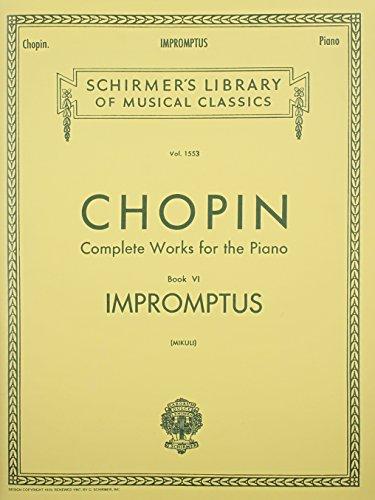 Impromptus: Piano Solo: Schirmer Library of Classics Volume 1553 Piano Solo