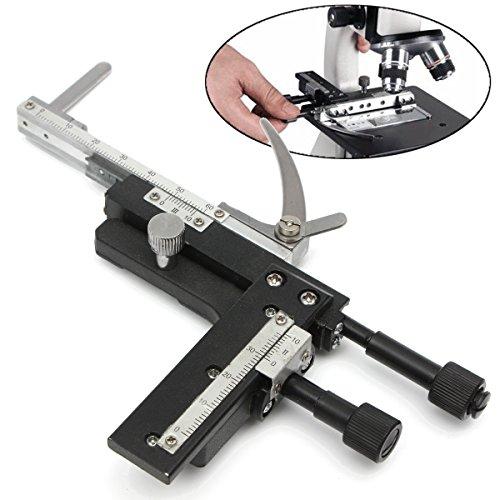 MASUNN Microscoop Bevestigbaar Mechanisch Stage X-Y Verplaatsbare Stage Kaliper Met Schaal, Straight Type, 1