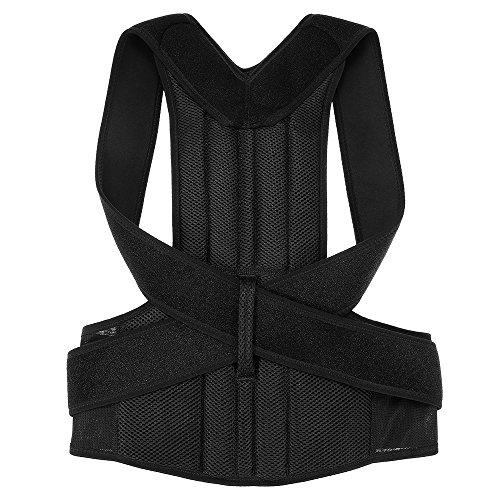 Tooart Posture Corrector - Adjustable Back Shoulder Neck Relief Brace Lumbar Upper Lower Back Support Strap Belt For Men Women - XS/S/M/L/XL / 2XL (Optional)