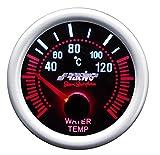Simoni Racing WT/A Indicatore Elettrico di Temperatura Acqua, Sfondo Nero
