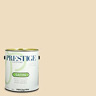 Prestige Paints P400-P-SW6386 Interior Paint and Primer in One, 1-Gallon, Satin, Comparable Match of Sherwin Williams Napery, 1 Gallon,