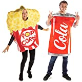 Popcorn & Soda Halloween Couples Costume - Movie Theater Funny Food Outfit