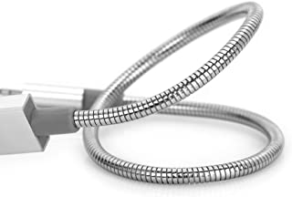 Verbatim 48865 Micro-USB - Synchronisatie- en oplaadkabel, robuuste en flexibele roestvrijstalen micro-USB-kabel, met knik...