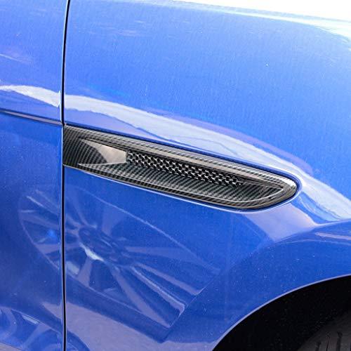 Style de Fibre de Carbone de Garniture d'évent de Sortie d'air latérale en Plastique ABS chromé pour Style XF XFL XE F-Allure X761