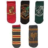 Harry Potter Hogwarts Häuser 5 Paar Damen Knöchelsocken – Schuhgröße 37-44