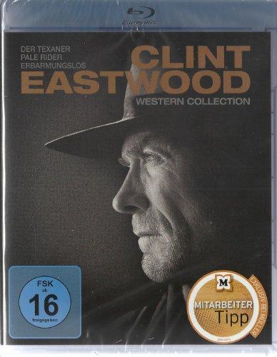 Clint Eastwood Western Collection (Der Texaner, Pale Rider, Erbarmungslos) [Blu-ray]