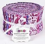 Soimoi 40 Unids Impresión Animal De Algodón Telas De Telas Para Acolchar Craft Strips 2.5 X 42 Pulgadas Rollo De Jalea - Púrpura-84