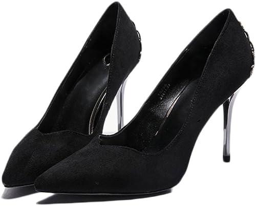 Snfgoij schuhe De Tacón Alto schwarz De La Moda De La damen Partido De Trabajo Sexy schuhe De Corte De La Discoteca Boda schuhe De damen,schwarz-8.5cm-EU 38 UK 5.5