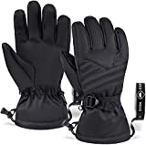 Touch Screen Ski & Snow Gloves - Cold Weather Waterproof Winter Snowboard Gloves for Men & Women - For Skiing & Snowboarding