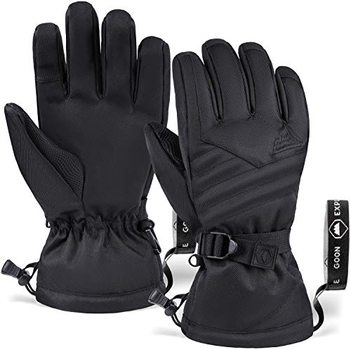 Tough Outdoors Winter Snow & Ski Gloves - Designed for Skiing, Snowboarding, Shredding, Shoveling & Snowballs - Waterproof & Windproof Nylon Shell & Synthetic Leather Palm - Fits Men, Women and Kids