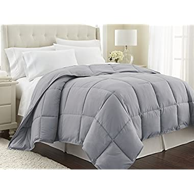 Southshore Fine Linens - Vilano Springs - Down Alternate Weight Comforter - Steel Grey - FULL / QUEEN