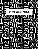 2021 Monthly and Weekly Planner - 8x11 A4 AGENDA - Elegant Black and White dated 2021 Planner for women - Perfect for monthly and daily tasks, appointments, and daily routine: 2021 Planner