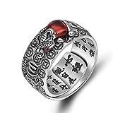 Anillo de PIXIU/sapo chino Feng Shui de plata 990, anillo ajustable abierto de la suerte de amuleto de riqueza anillo de joyería budista con caja de joyería (PIXIU)