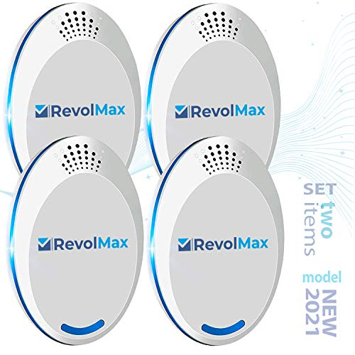 RX-1, 4Pack, Ultrasonic Pest Repeller Wall Plug-in, Most Effective Than Repellents - Get Rid of - Rodents, Squirrels, Mice, Rats, Bats, Roaches, Ants, Spiders, Bed Bugs, Мosquito, Insects, Fleas, Fly