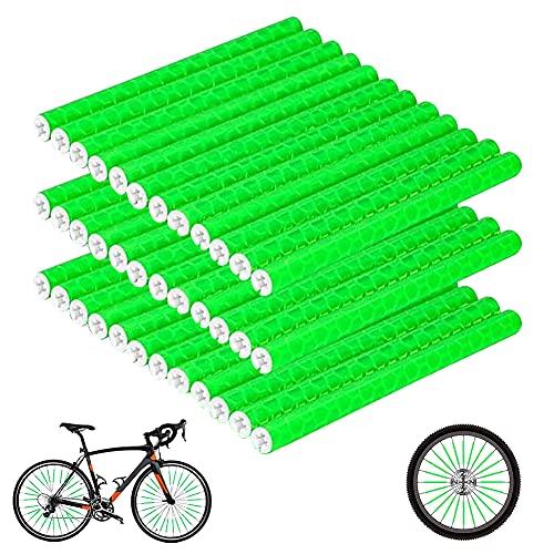 Copri Raggi Catarifrangenti per Bicicletta, 36PCS Riflettori a Raggi,Copri Raggi per Moto,Raggi Riflettenti per Biciclette Adatto a Tutti Raggi Standard per Biciclette