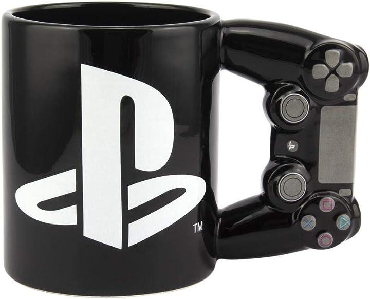 Tazza playstation 4 tazza da caffé colazione solo per veri gamer paladone 5055964731298
