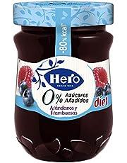 Hero Diet Confitura de Arándanos y Frambuesas Sin Conservantes ni Colorantes, Sabor Auténtico 280 g