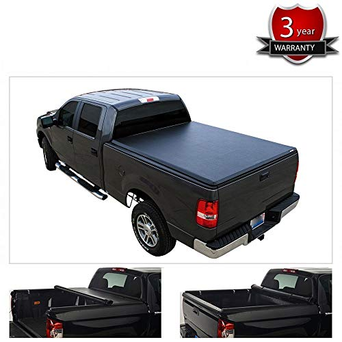 Yumy 5.4ft(64in.) Soft Roll-Up Tonneau Cover Assembly for 17-20 Honda Ridgeline Truck Cargo Cover Lock & Roll Up Soft Truck Bed