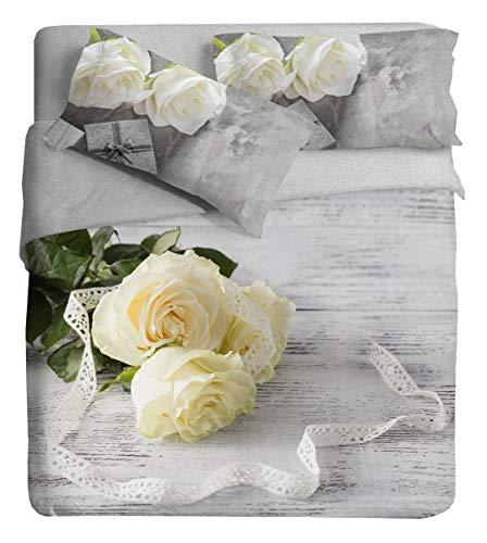 Bunnies in Love Color beige255x240cm Ipersan Juego Nordico Set Fine Art Impresa fotografica