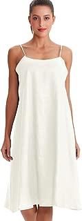 Amazhiyu Women's Linen Tank Dresses with Pockets Sleeveless Casual Summer Spaghetti Strap Dress