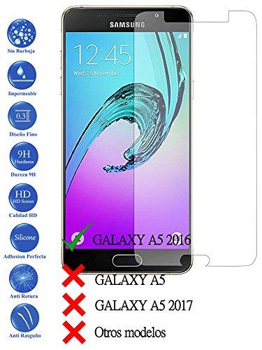 Todotumovil Protector de Pantalla Samsung Galaxy A5 2016 A510F de Cristal Templado Vidrio 9H para movil