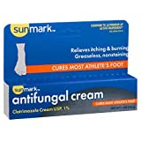 Sunmark Antifungal Cream Clotrimazole 1%, 1 oz by Sunmark (Pack of 3)