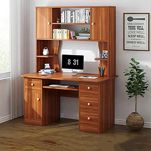AEF Escritorio Industrial Escritorio De Computadora Muebles Oficina Mesa PC Mesa Trabajo Madera, Robusto Y Espacioso, Estilo Moderno Y Minimalista, con Gran Capacidad De Almacenaje,B