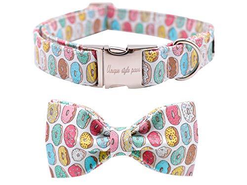 Unique style paws Collar para perros con lazo, pajarita, collar ajustable con pajarita suave para gatos pequeños, medianos y grandes.