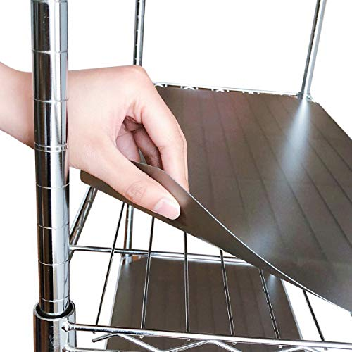 """BRIAN & DANY 14"""" X 36"""" Wire Shelf Liners Value Pack of 5, Industrial Strength Thick Verson(0.65mm Flat VS 0.4mm Rolled)"""