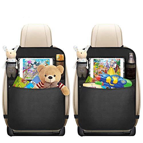 Protezione Sedile Auto, Mixigoo 2 Pezzi Organizzatore Sedile Posteriore Auto Proteggi Impermeabile con Multi-Tasca, Organizer Bambino per Sedile Auto, Protezione Sedile Auto Bambini