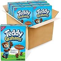 Teddy Grahams Chocolate Graham Snacks, 6 - 10 oz boxes