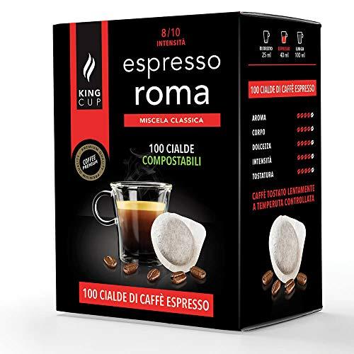 King Cup - Paquete de 100 Bolsitas de Café Mezcla Roma, Monodosis...