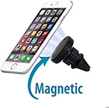 Magnetic Mount, FoneTech Universal Air Vent Car Mount Phone Holder, Cell Phones and Mini Tablets (360 Degree Rotation) GPS Holder for iPhone Samsung HTC Sony