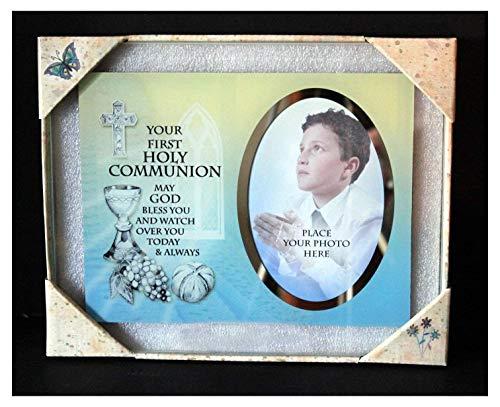 Inspirerende glazen gedicht fotolijst zijn eerste heilige communie Keepsake geschenk aan schat voor altijd!
