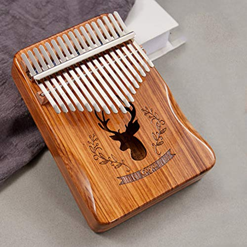Great Deal! DishyKooker 17 Key Kalimba Portable Thumb Piano Zebra Wood Reindeer Pattern Panel Board ...