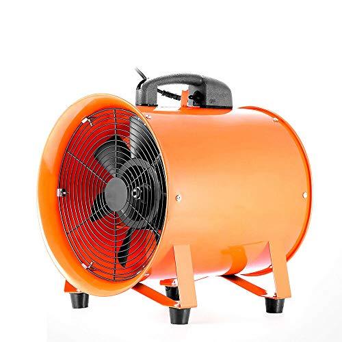 Ventilador axial de construcción de 220 V, 300 mm, 3900 m³/h, con canal de PVC de 5 m para centros de compra, estufas, fábricas de baldosas, fábricas de acero
