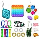 Qwing Set di giocattoli sensoriali agitarsi 23 pezzi, set di giocattoli antistress,Fidget toys e giochi per le dita per adulti bambini, giocattoli anti-ansia per alleviare lo stress per autismo ADHD